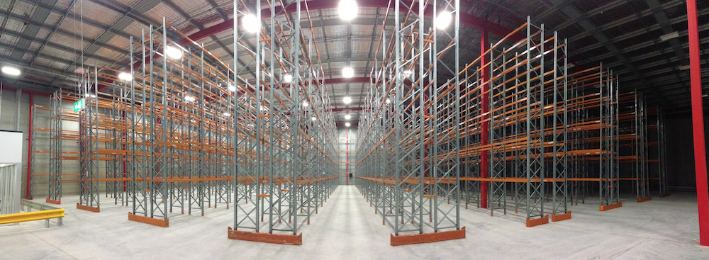 Secondhand pallet racking supplied in Melbourne
