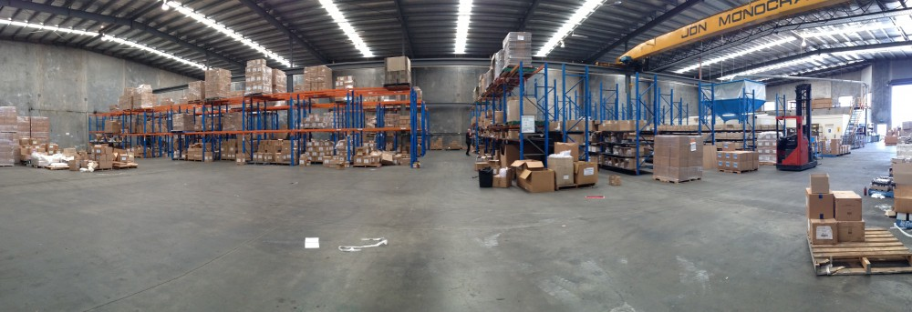 Existing pallet racking at Natural Candle Supply.