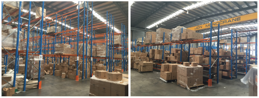 SSS increased the height of the pallet racking at Natural Candle Supply