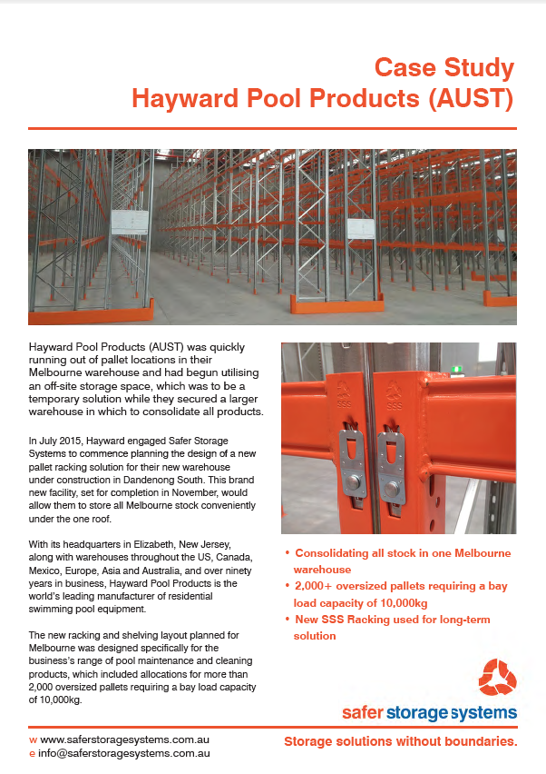 Case Study: Hayward Pool Products (AUST) - Safer Storage