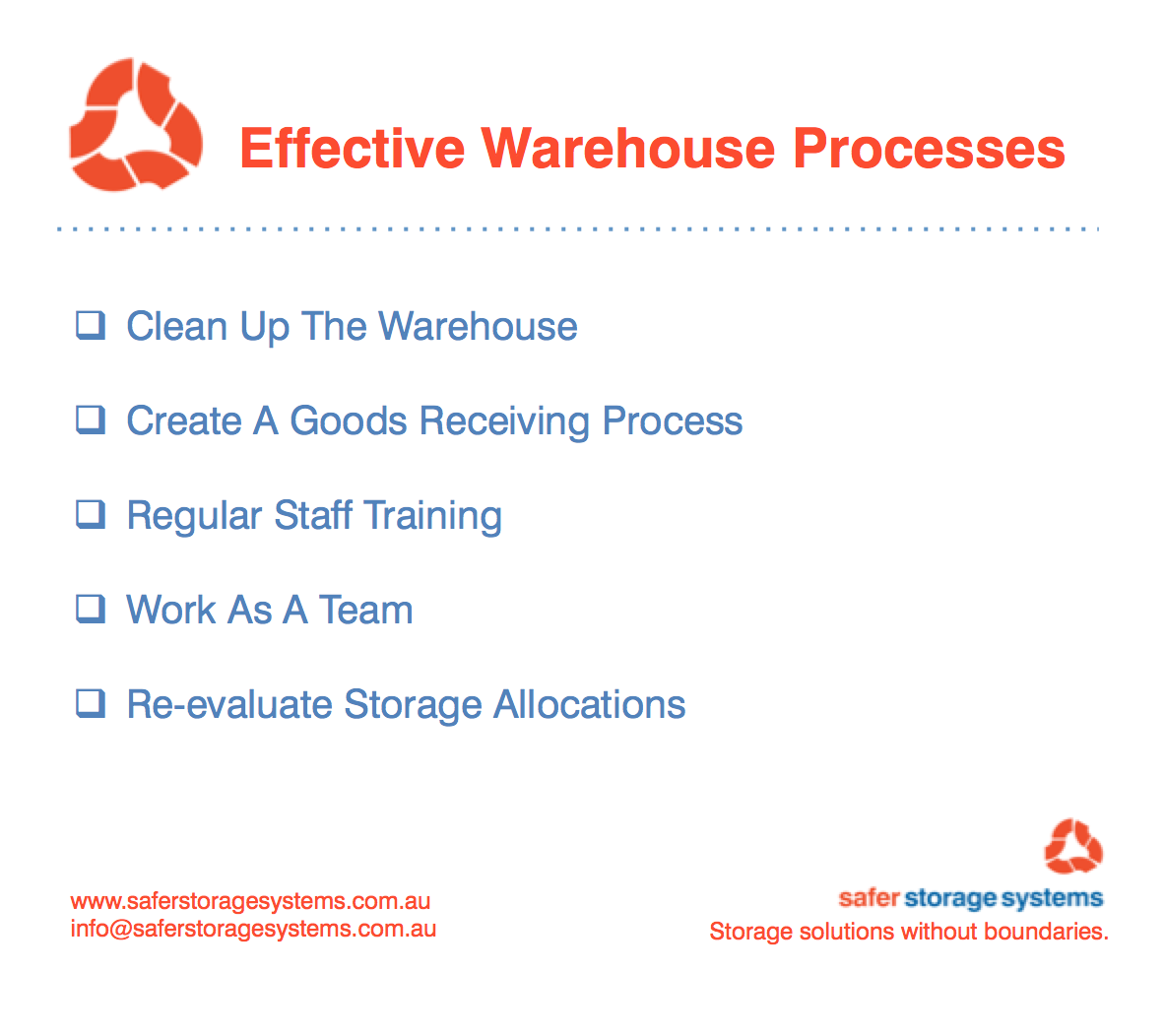 Effective Warehouse Processes - Safer Storage Systems Pallet Racking
