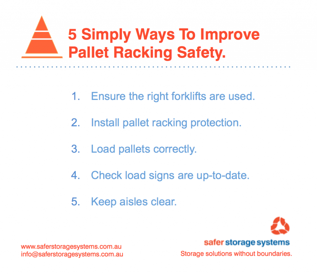 5 Simple ways to improve pallet racking safety
