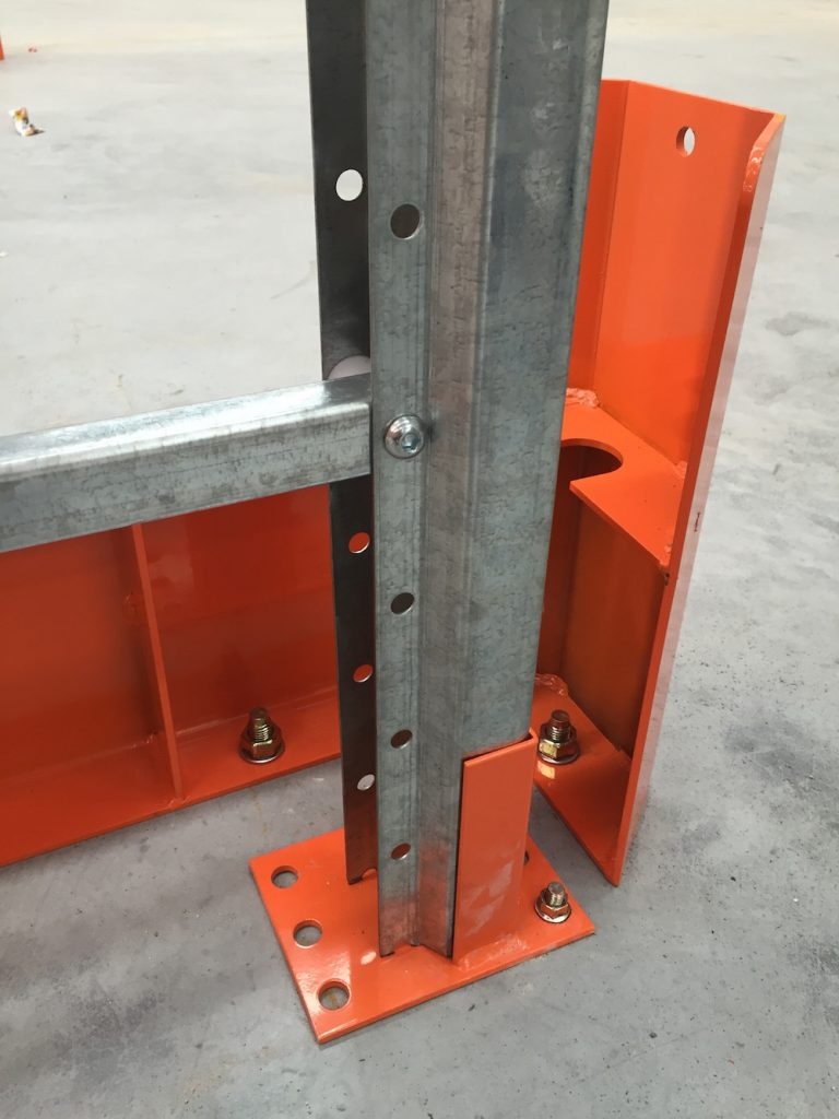 Heavy Duty Rack Protection at Aisle Ends