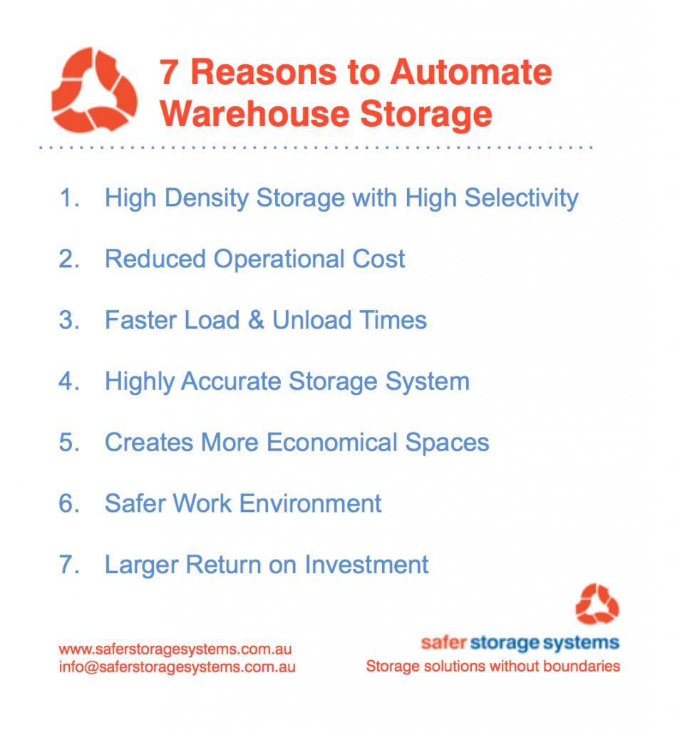 7 Reasons To Automate Warehouse Storage