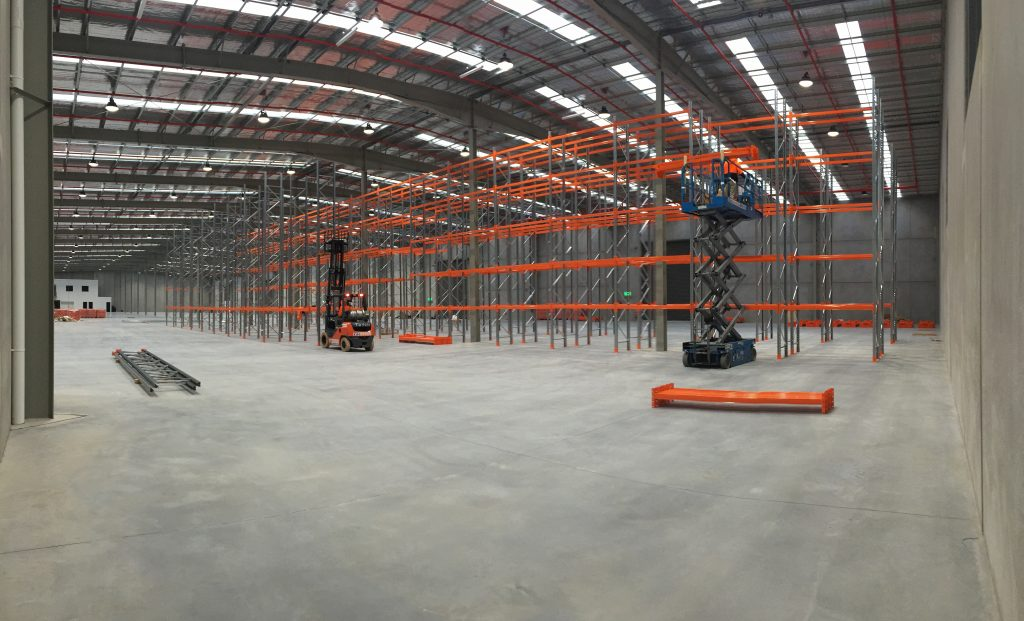 Biscay Greetings Storage System under construction